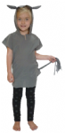 GREY DONKEY TABARD CHILDRENS FANCY DRESS COSTUME